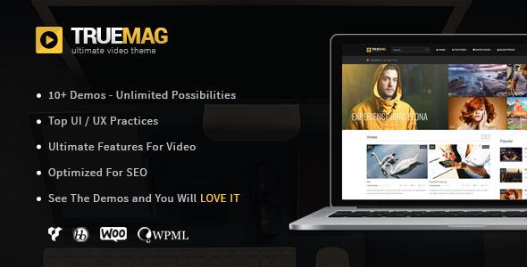 True Mag - Cool responsive blog, magazine & video WordPress themes